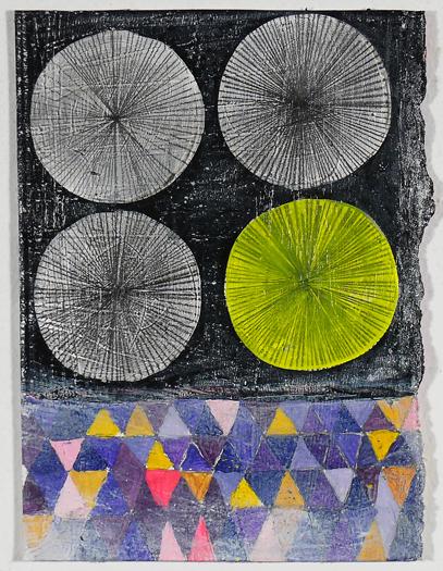 """NY11#19, 7"""" X 5"""", mixed media on paper, 2011"""