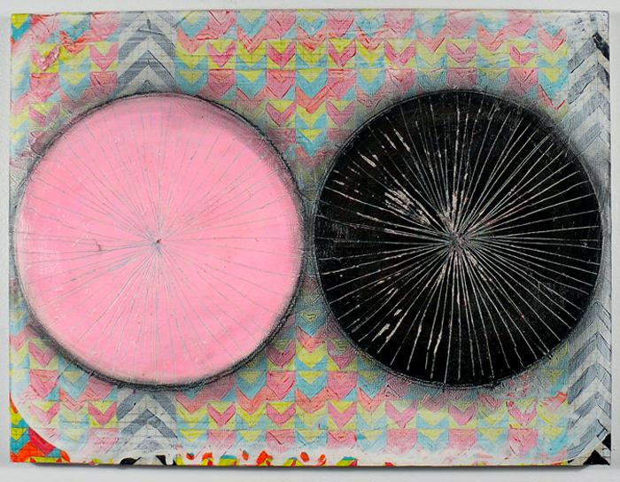 "NY11#22, 12"" X 16"", mixed media on panel, 2011  available at Etsy   limited edition print available at Art.com"