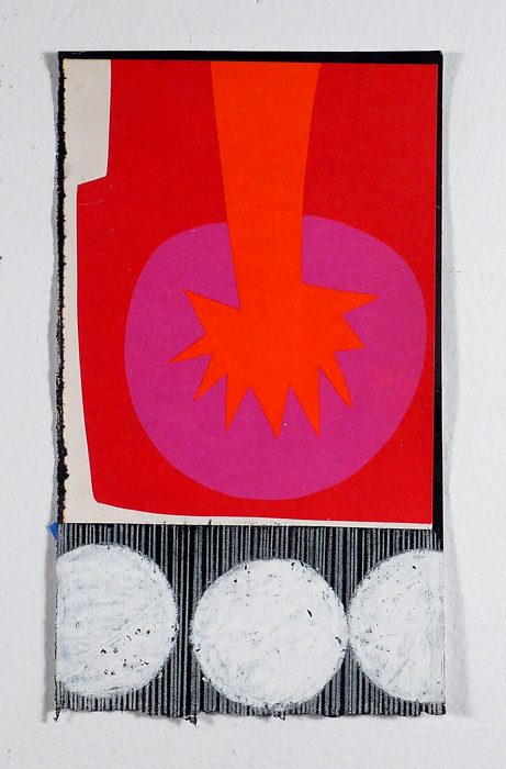 """NY11#24, collage & mixed media on paper, 7.5"""" x 4.25"""",2011, SOLD"""