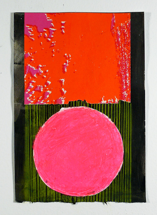 """N Y11#27, collage & mixed media on paper, 8.5"""" x 6"""",2011 SOLD"""