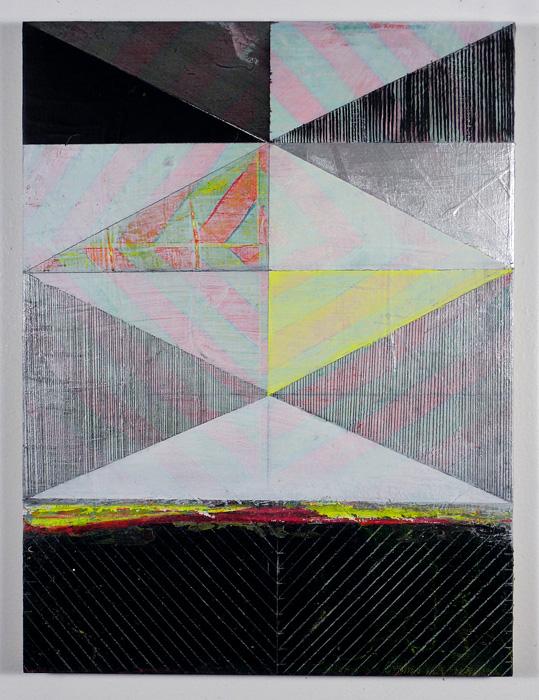 "NY11#41, 16"" X 12"", mixed media on panel, 2011  available at Etsy   limited edition print & framing at Art.com"