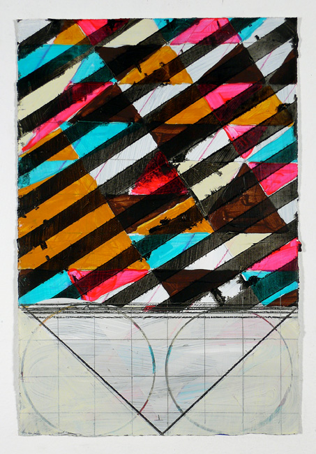 """N Y11#44, 11"""" X 7.5"""", mixed media on paper, 2011  available at Etsy   prints at Wheatpaste"""