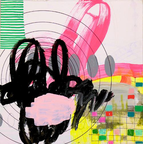 """NY10#06,10"""" x 10"""",mixed media on paper,2010, SOLD"""