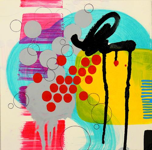 """NY10#07,10"""" x 10"""",mixed media on paper,2010, SOLD"""