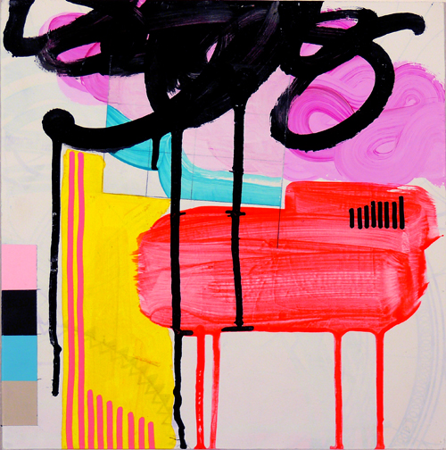 """NY10#09,10"""" x 10"""",mixed media on paper,2010, SOLD"""