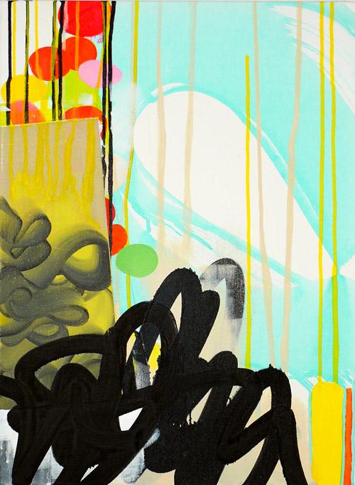 "NY10#12,24"" x 18"",mixed media on canvas,2010  available at Etsy  limited edition print available at Art.com"