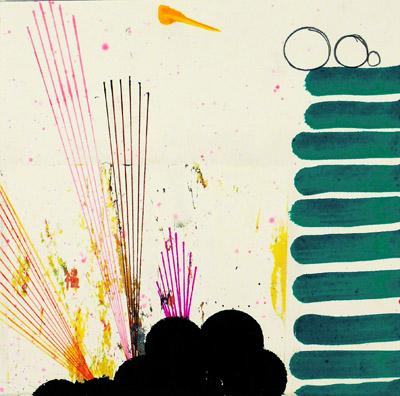 "N Y10#15,7"" x 7"",mixed media on paper,2010"