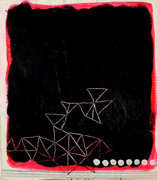 """NY10.#18,17"""" x 15"""",mixed media on paper, 2010, SOLD"""