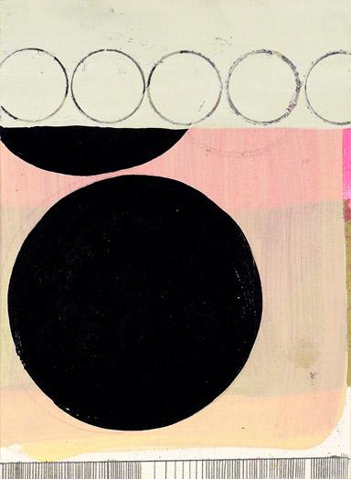 "N Y10#32, 8""x6"",mixed media on paper,2010  prints at Wheatpaste"