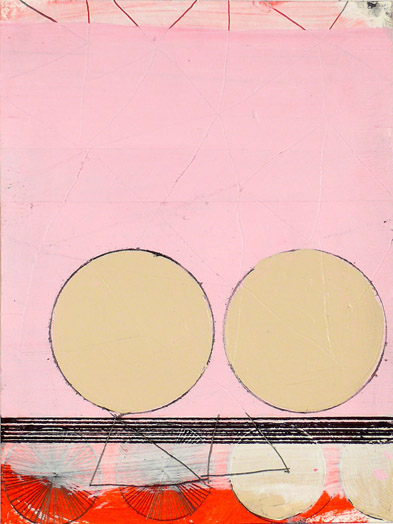 """N Y10#34, 8""""x6"""",mixed media on paper,2010, SOLD"""