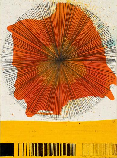 """NY10#33, 8""""x6"""",mixed media on paper,2010, SOLD"""