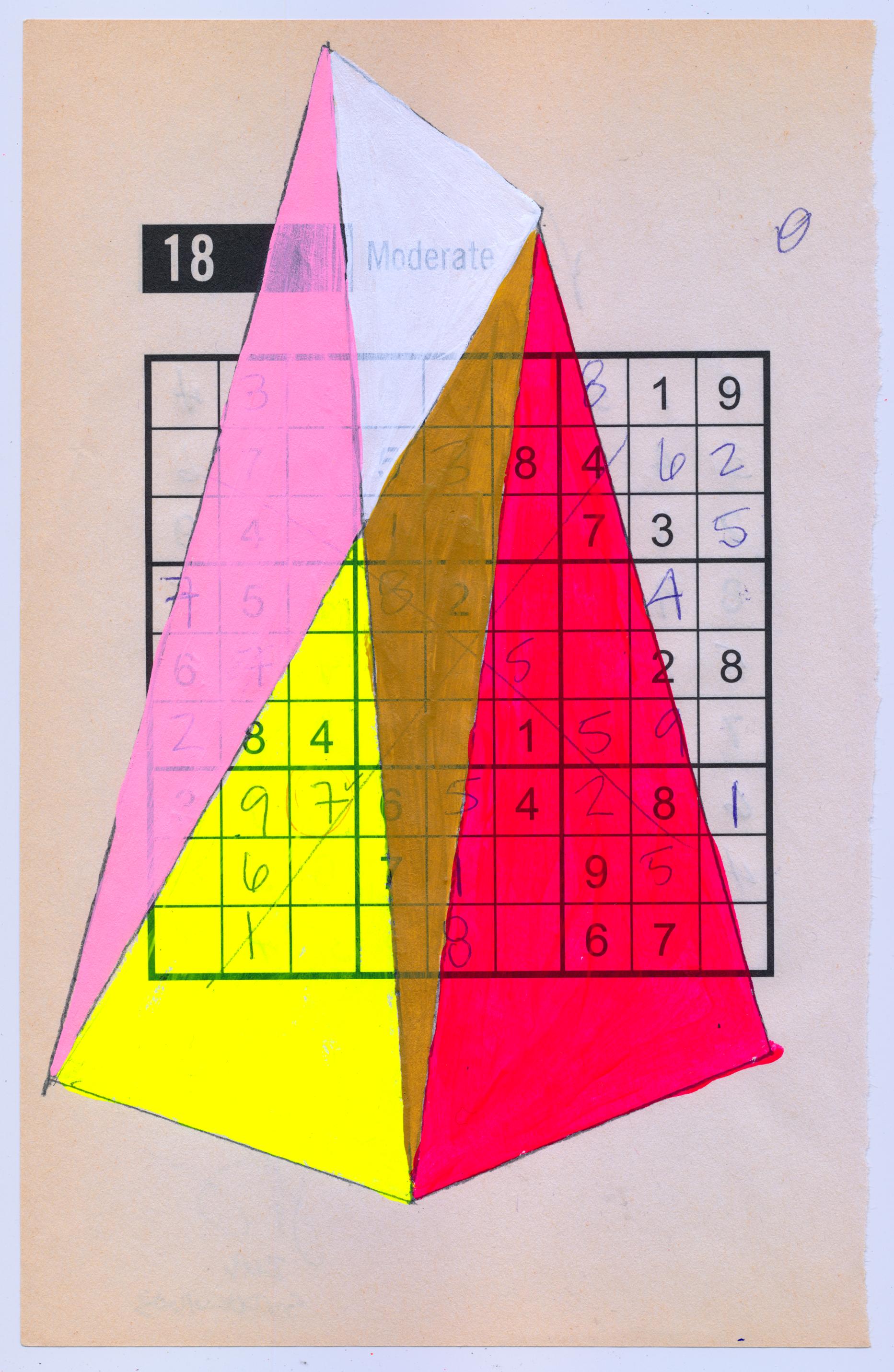 Jennifer Sanchez, geometric artwork, abstract art, sudoku, nyc art