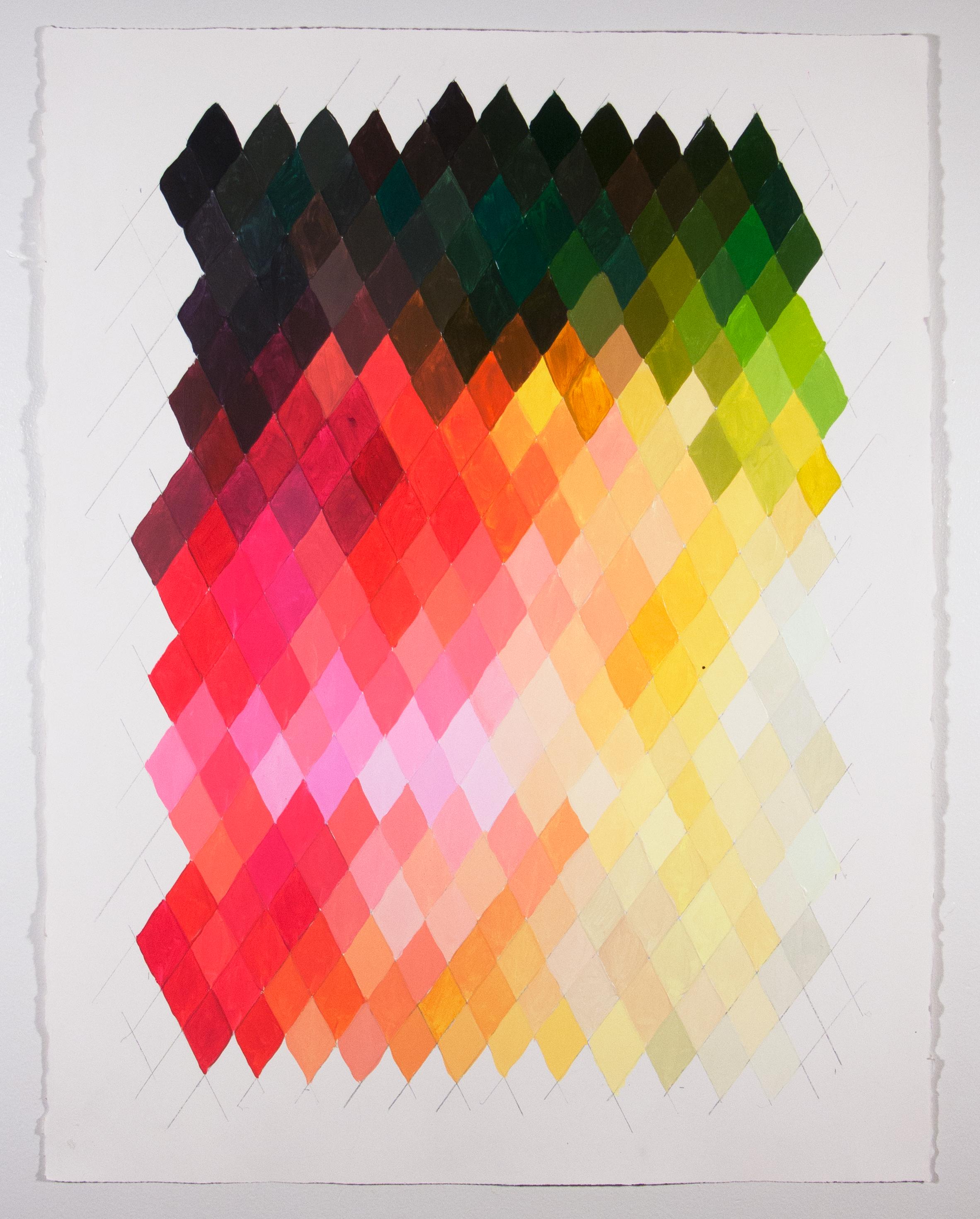 "NY16#55, 30"" X 22"", acrylic on paper, 2016 available at  Chairish"