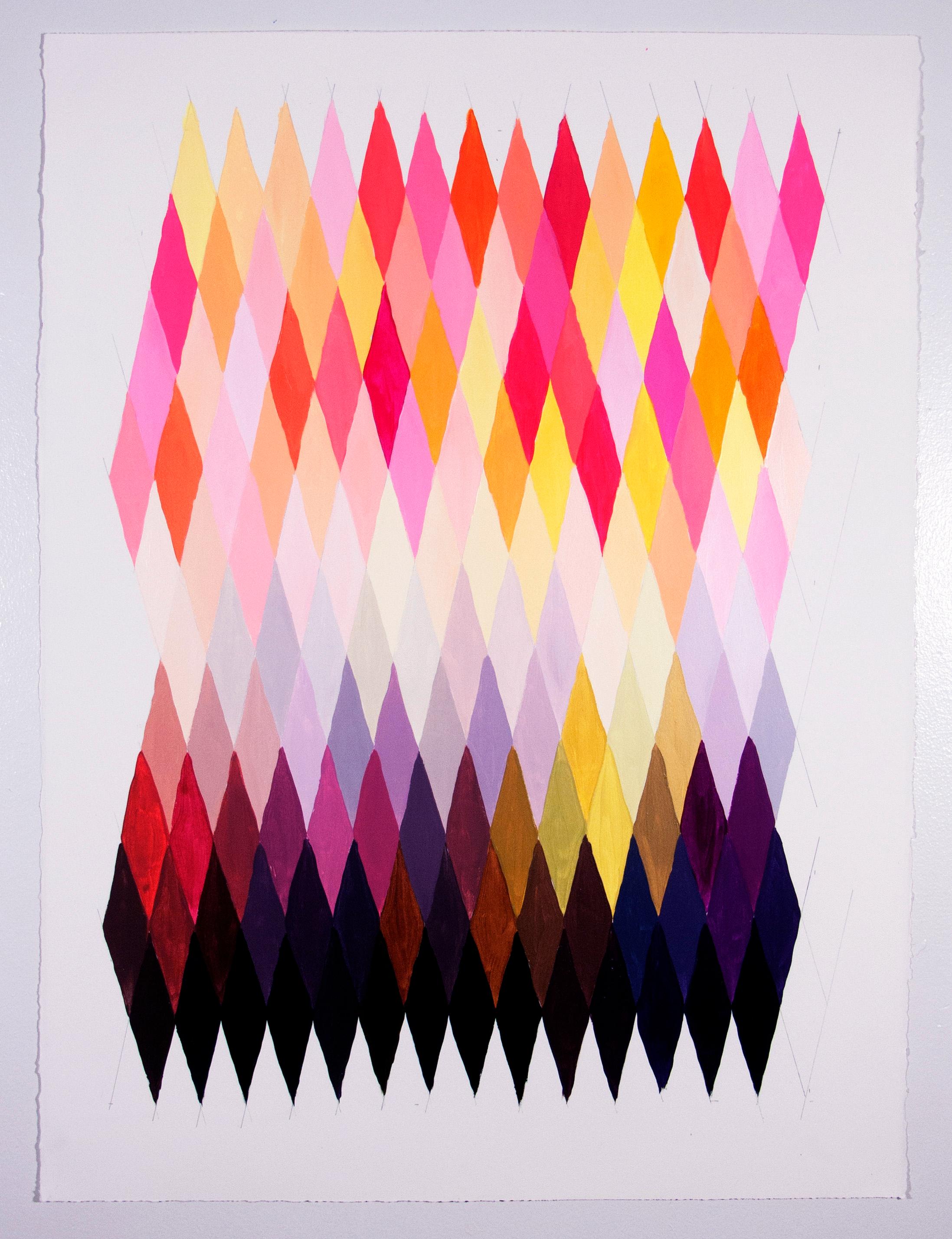 "NY16#58, 30"" X 22"", acrylic on paper, 2016 available at  Chairish"