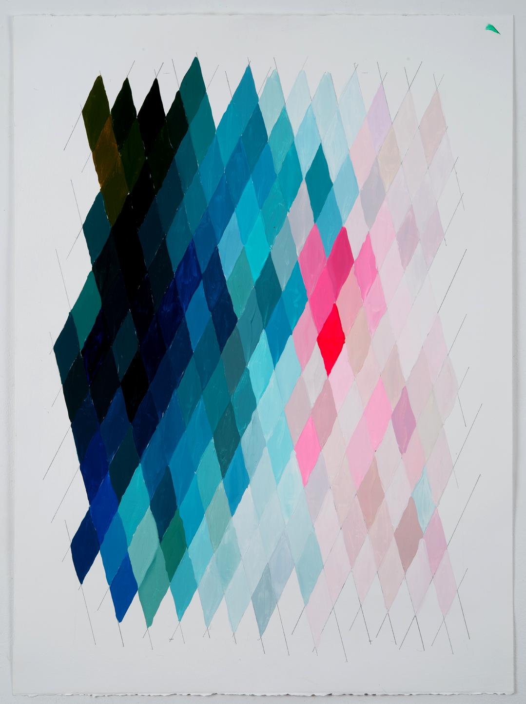 "NY16#53, 30"" X 22"", acrylic on paper, 2016 available at  Chairish"