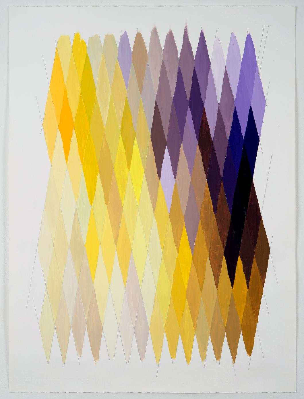 "NY16#54, 30"" X 22"", acrylic on paper, 2016 available at  Chairish"