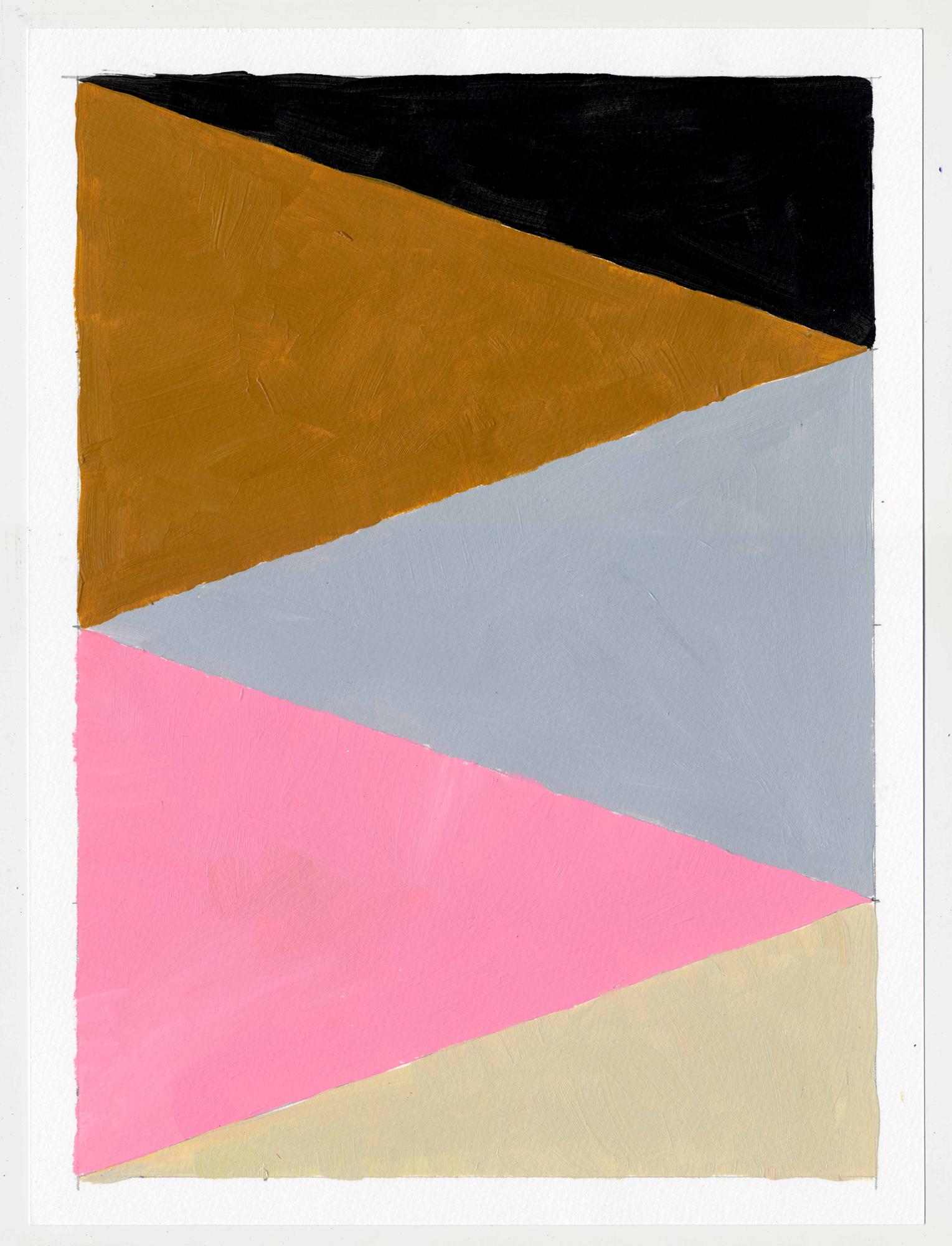 """NY16#62  , 12"""" X 9"""", acrylic on paper, 2016  Available at Etsy   prints at Artfully"""
