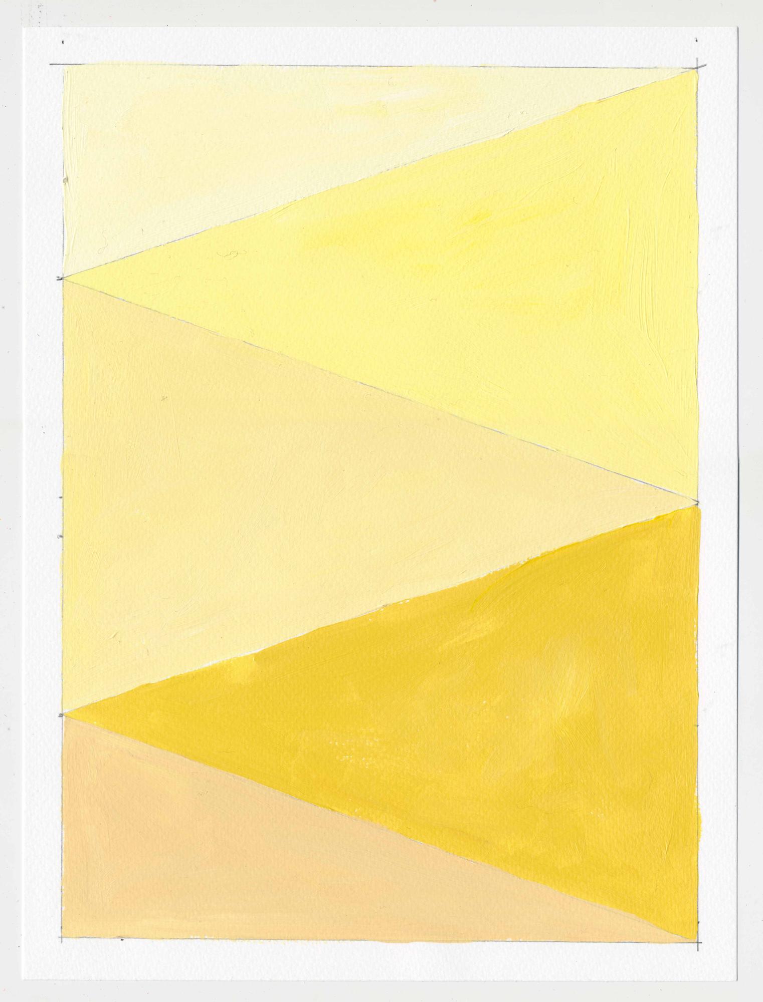 """NY16#64  , 12"""" X 9"""", acrylic on paper, 2016 Available at  Etsy"""