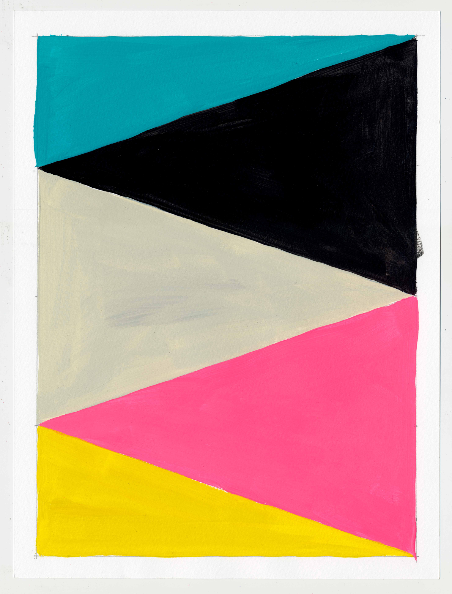 """NY16#61, 12"""" X 9"""", acrylic on paper, 2016  Available at Etsy   prints at Artfully"""