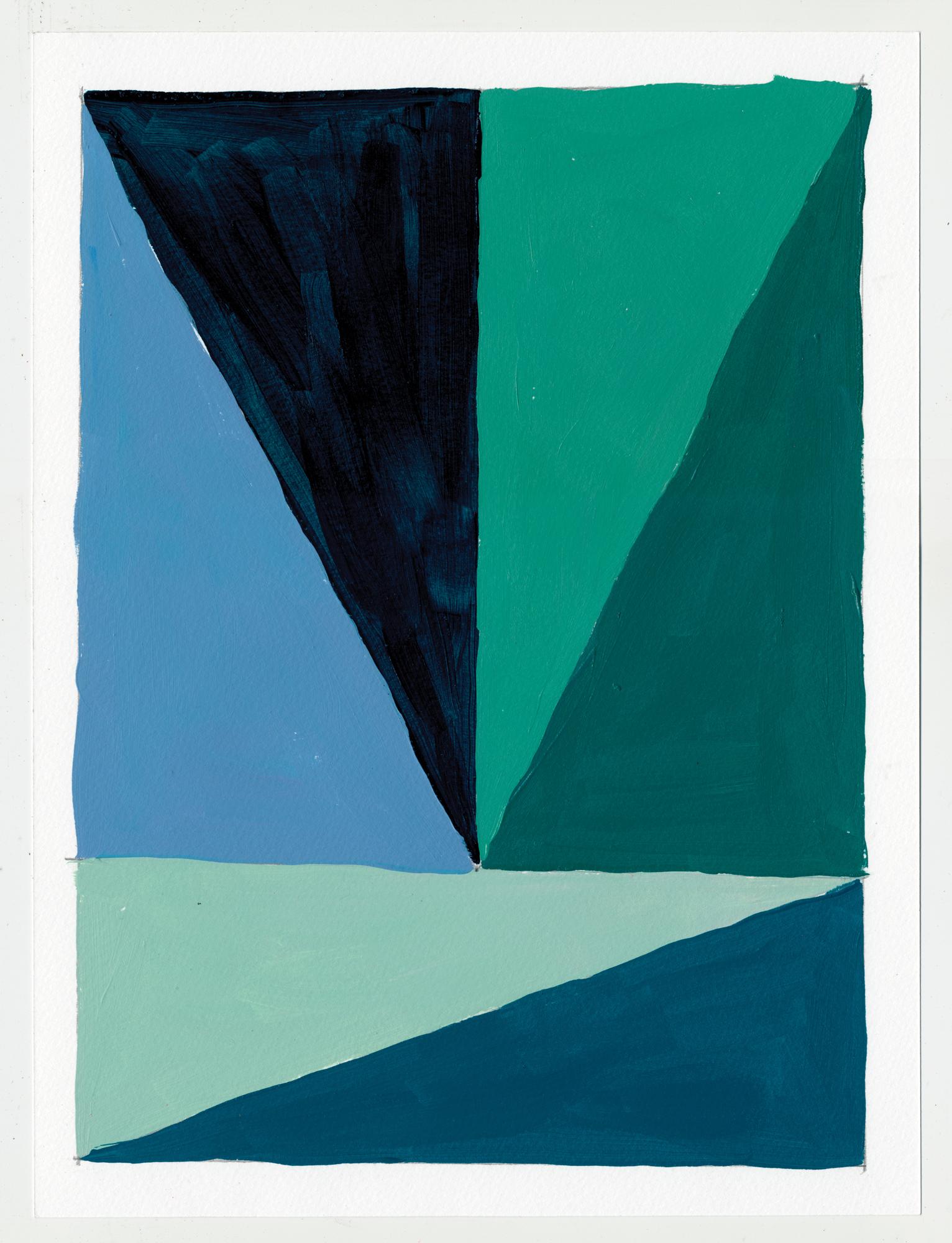 """NY16#59  , 12"""" X 9"""", acrylic on paper, 2016  S  OLD"""