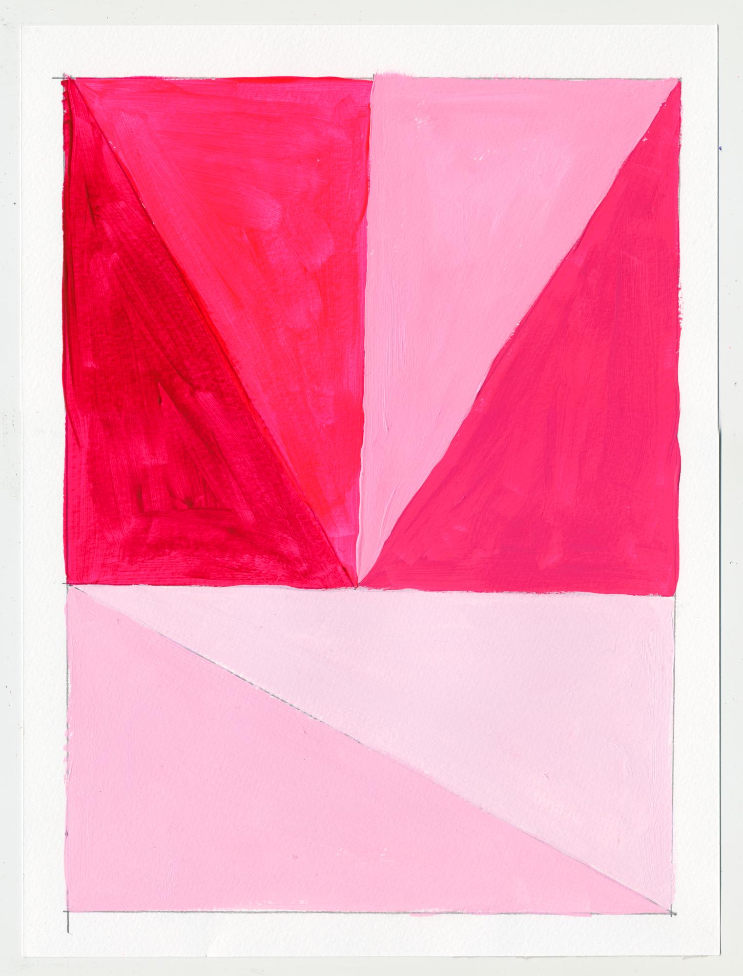 """NY16#60  , 12"""" X 9"""", acrylic on paper, 2016 SOLD"""