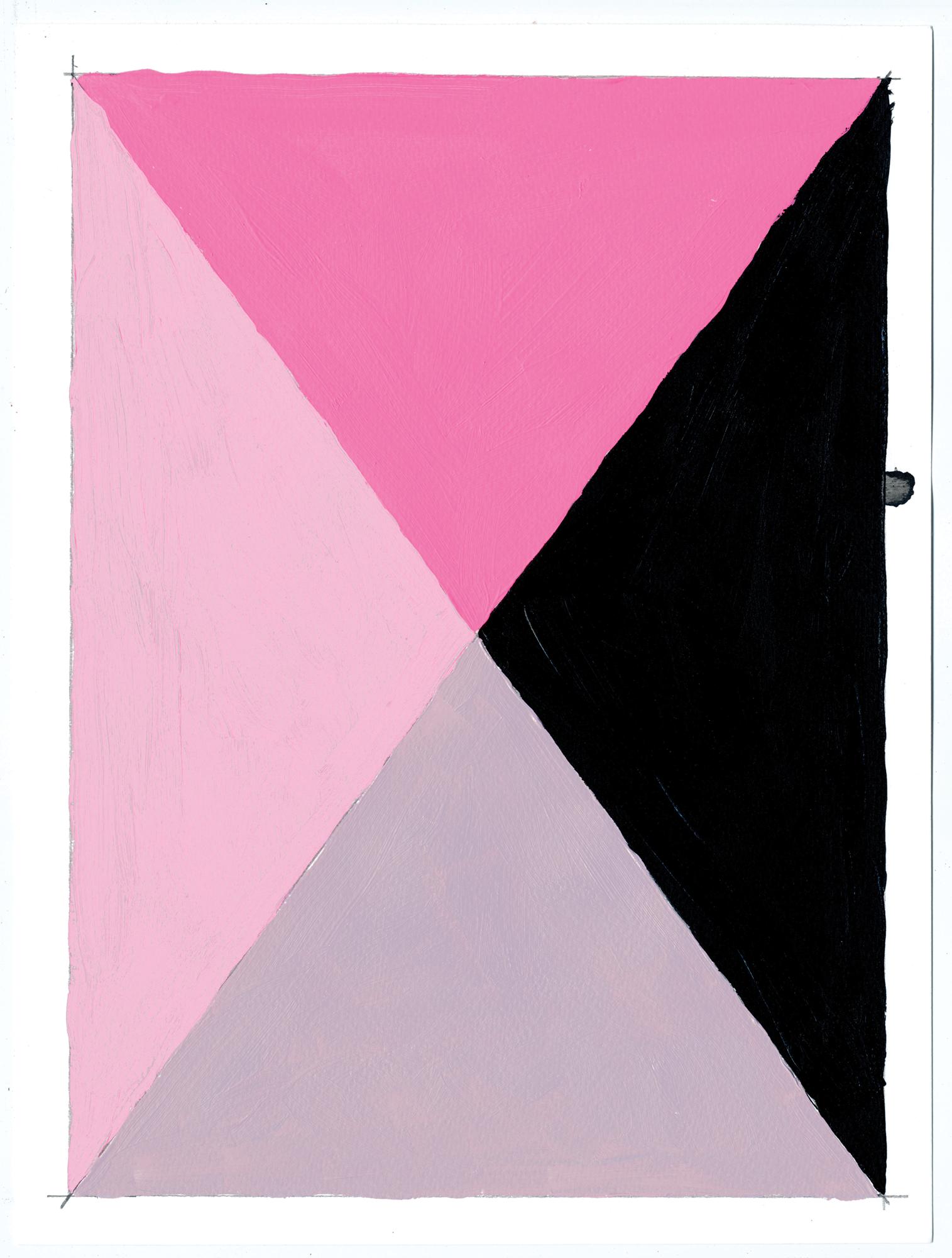 """NY16#70  , 12"""" X 9"""", acrylic on paper, 2016 Available at  Etsy"""