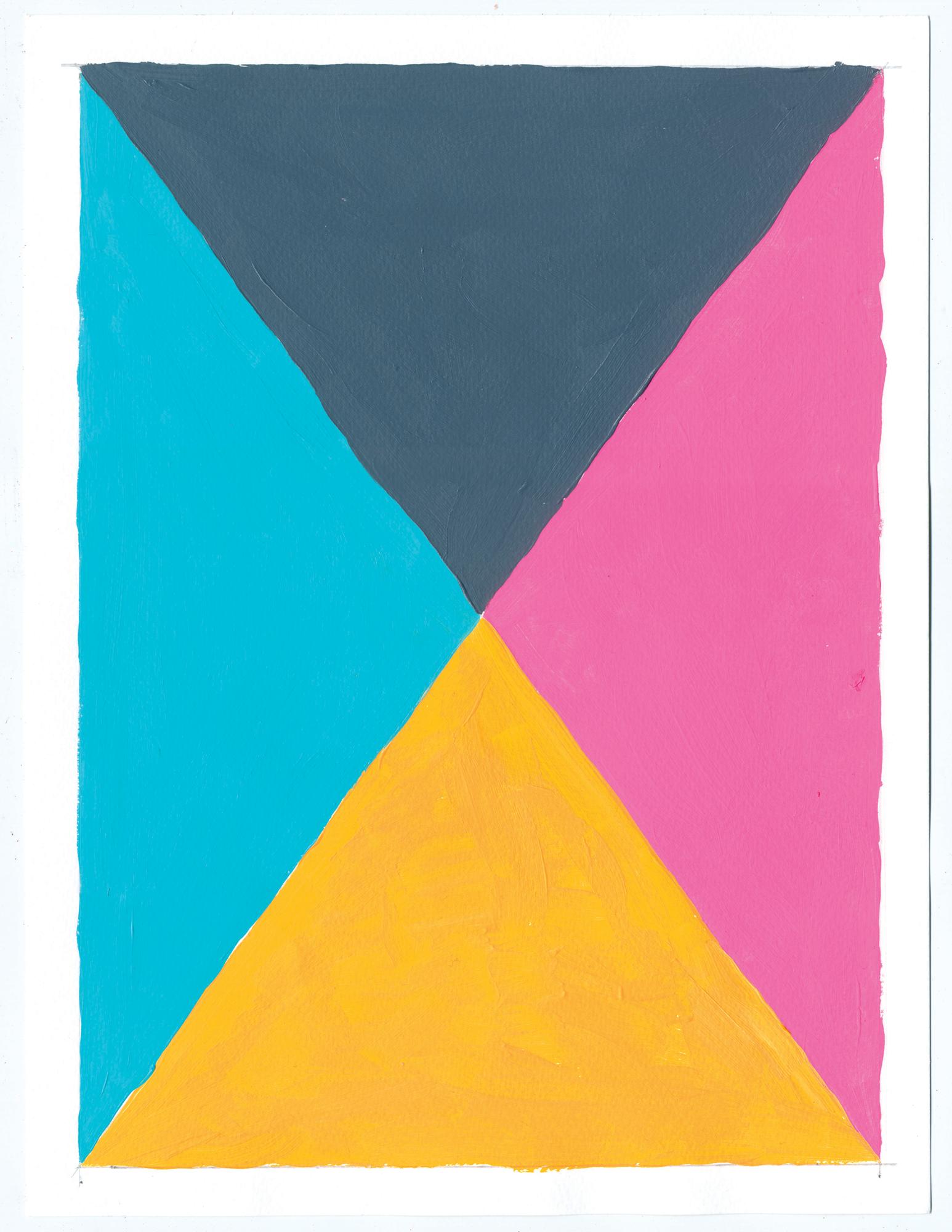 """NY16#69  , 12"""" X 9"""", acrylic on paper, 2016 SOLD"""