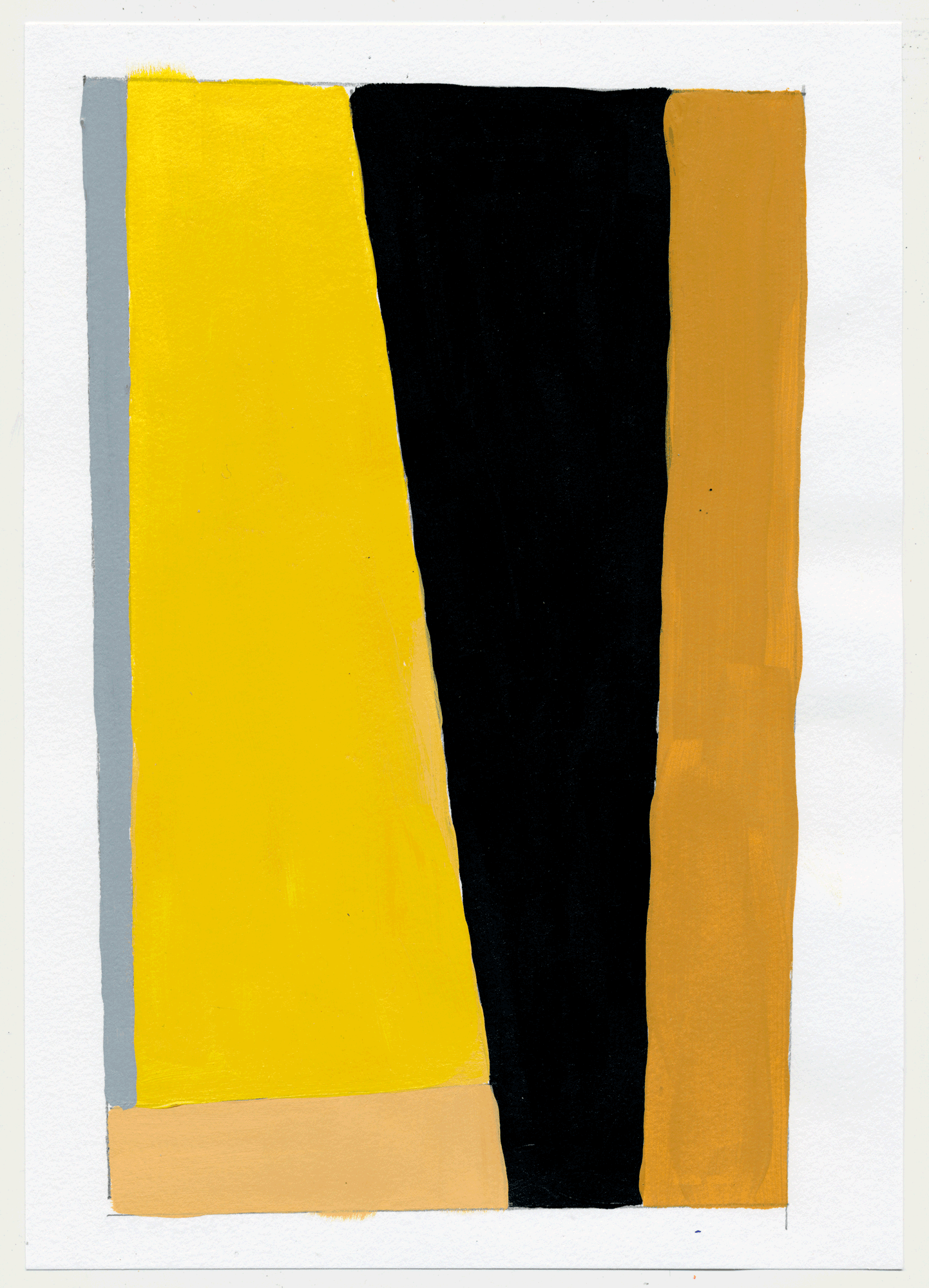 "NY17#22 10"" X 7"", acrylic on paper, 2017  available at Etsy   more color studies. this time with the primary colors, sorta. i went with pink, ochre & cyan...and some red wine."