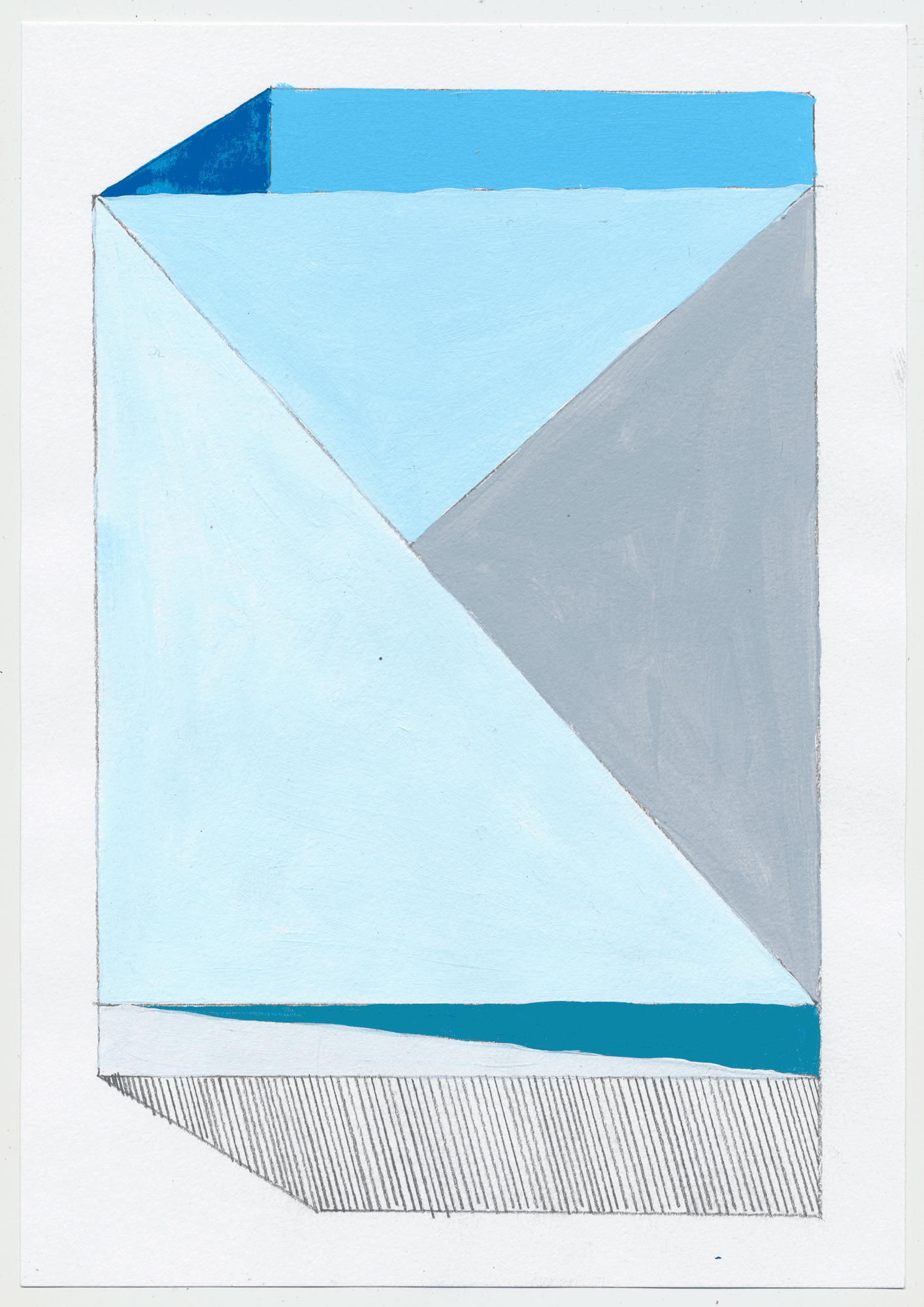 "NY1714 10"" X 7"", acrylic on paper, 2017  available at Etsy   another set of quick sketches to help break up the painting process & play with color. these could make fantastic rugs!"