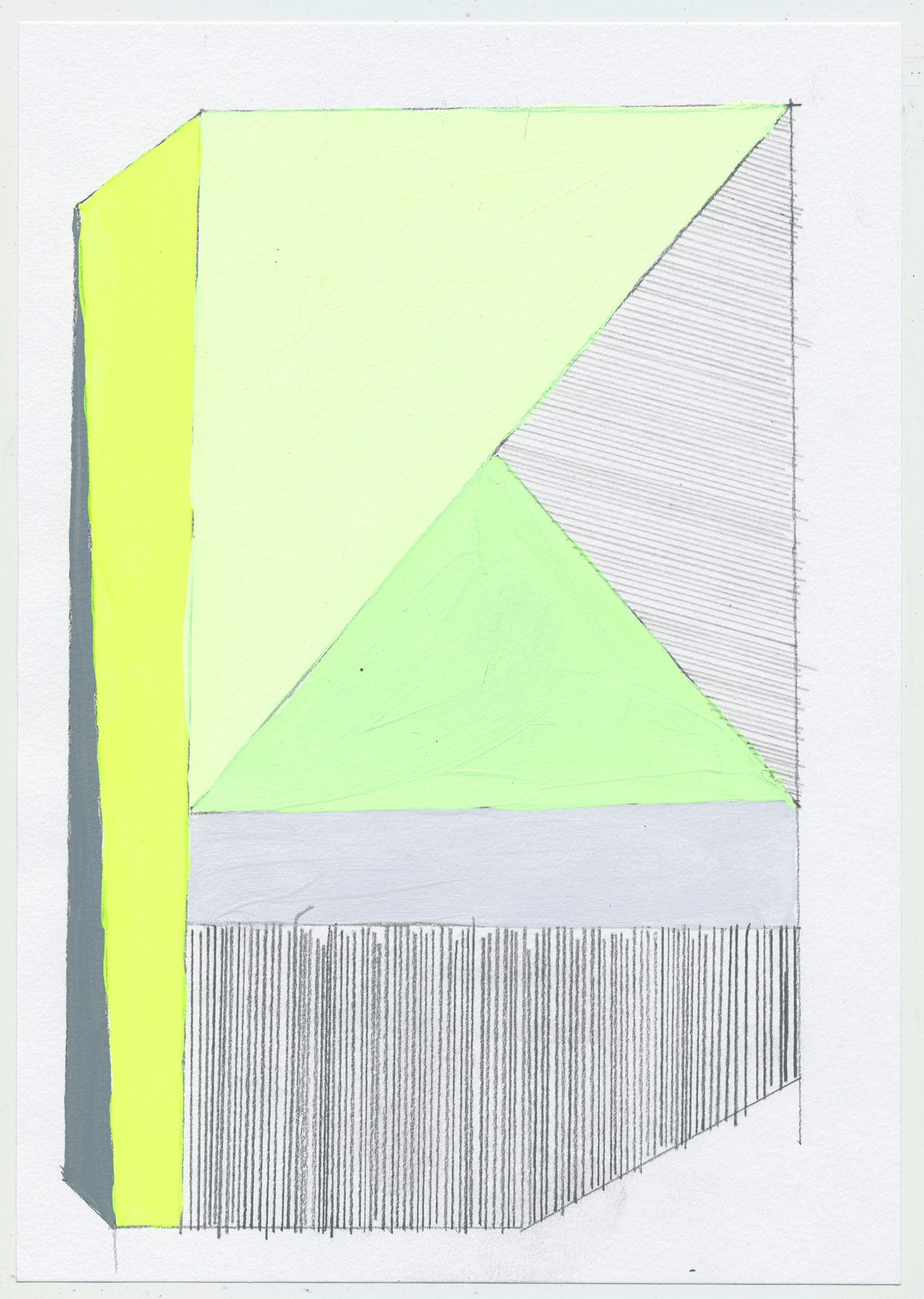 "NY1713 10"" X 7"", acrylic on paper, 2017 SOLD  another set of quick sketches to help break up the painting process & play with color. these could make fantastic rugs!"