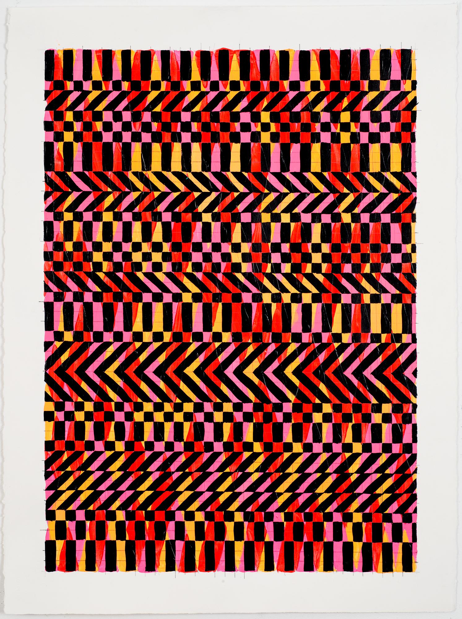 """NY1657, 30"""" X 22"""", acrylic on paper, 2016"""