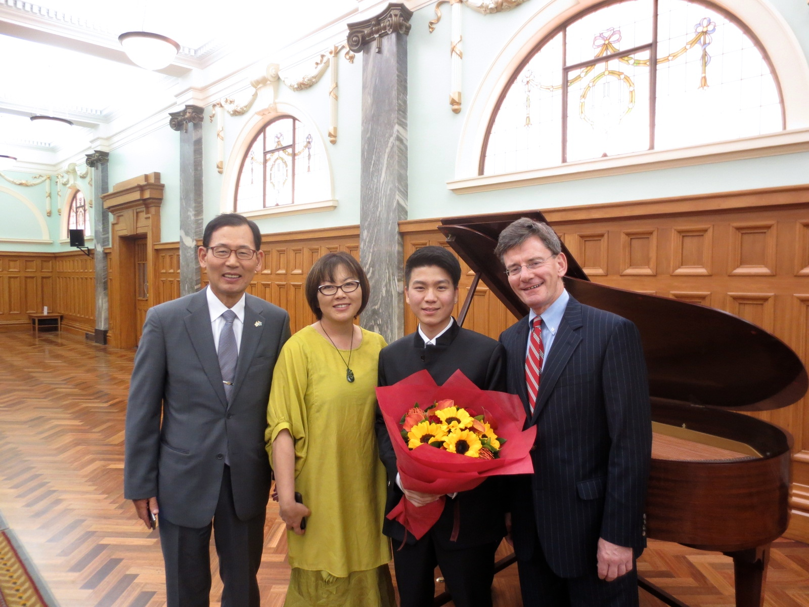 Grand Hall, New Zealand Parliament.1. Ambassador of Republic of Korea, His Excellency, Mr. Yong-Kyu Park.2.National MP, Ms. Melissa Lee.3.   Minister of Arts, Culture and Heritage, Hon. Christopher Finlayson.