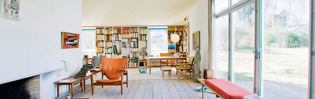 Home of the architect and furniture designer, Finn Juhl, . For those of you who can't make it to  the Ordrupgaard  in Denmark, check out  the virtual tour .