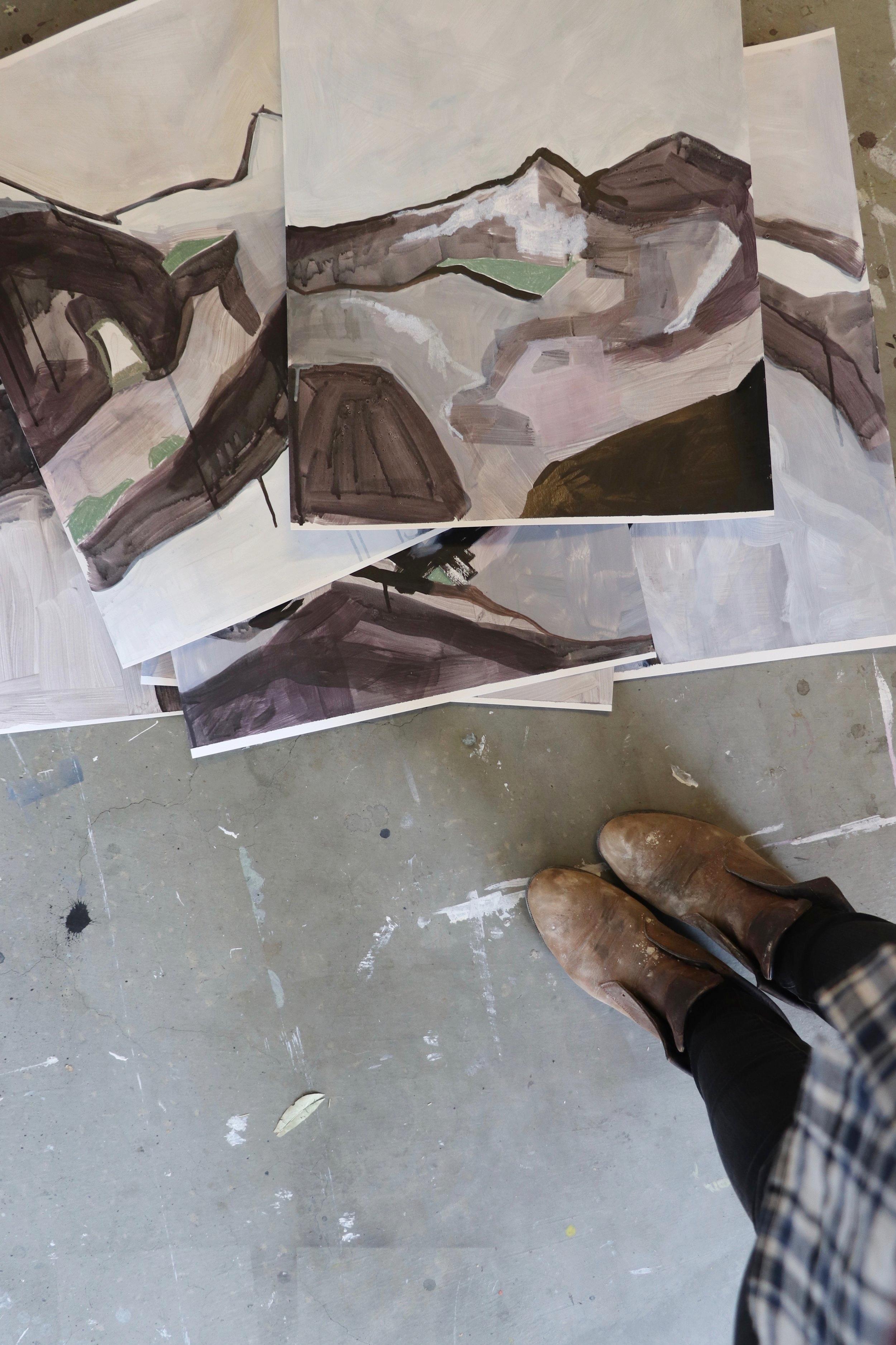 feet and art