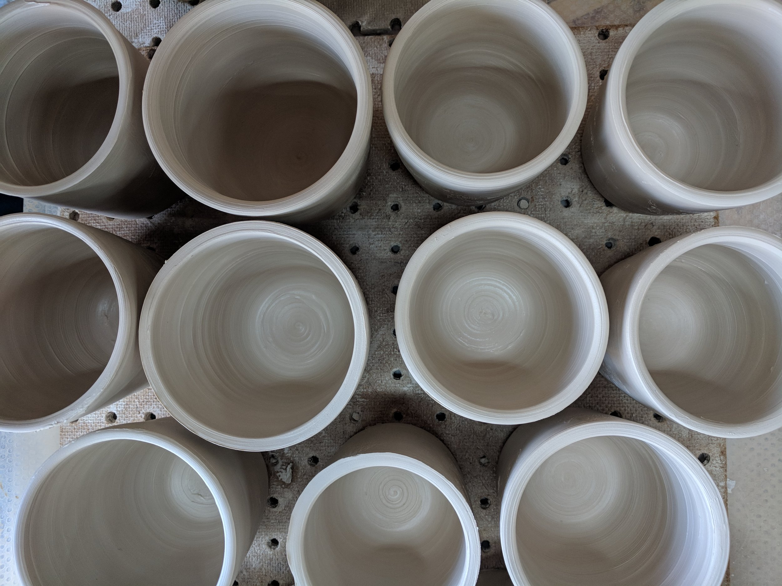 mug batch in progress