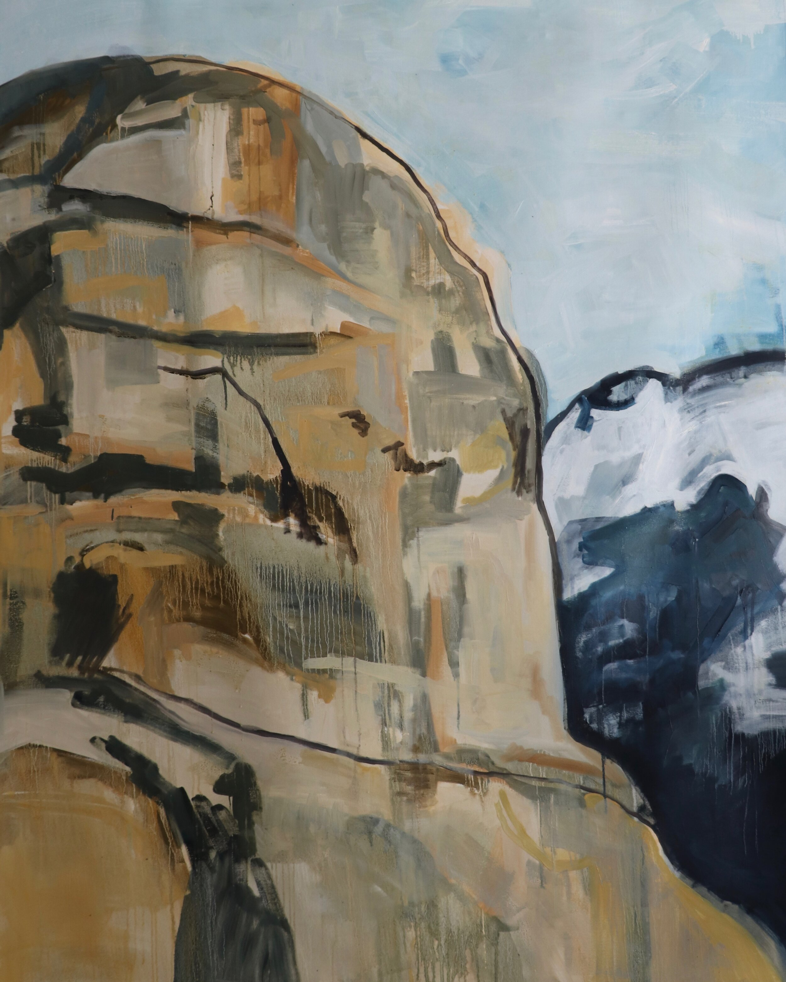 "Mount Watkins, oil on canvas, 75 x 60""  2019"