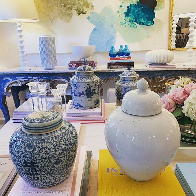 New pottery galore just arrived!  Don't delay - come see us today!!!💙 #blueandwhite  #pottery  #accessories  #traditionalhome  #austininteriordesign
