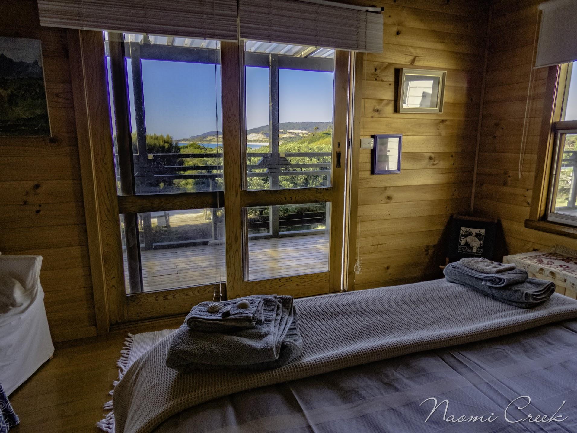 Both bedrooms have uninterrupted views of the coastline