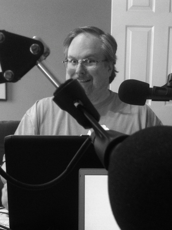 With this photo, you can pretend to be Mike, looking at Craig, in the NerdBurger podcast studio. Isn't that fun?