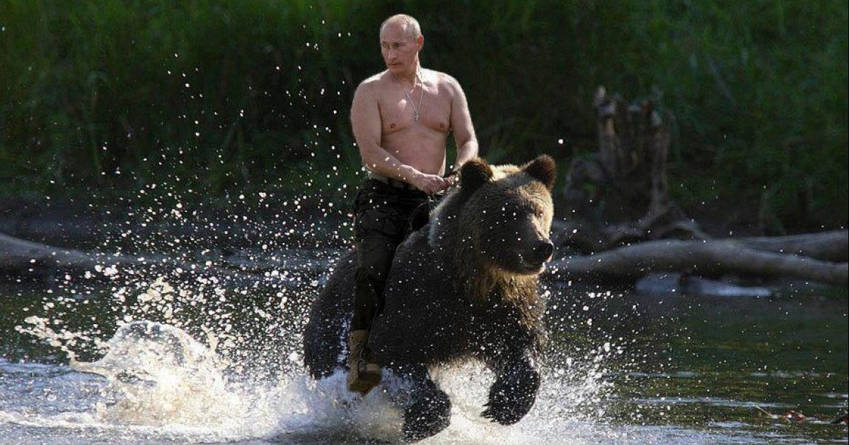 In Russia, Putin rides YOU!