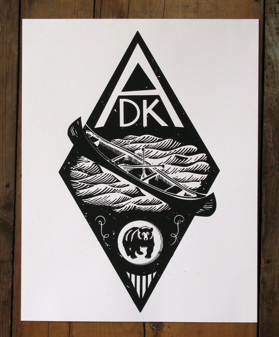 """-One Color Handcrafted Screen Print    Size: 11""""x14""""    Paper: French Paper Co. Speckletone White, Acid Free and Archival quality. Made in the USA    Ink: Hand Crafted Silk Screen Print- printed with water based eco- friendly archival inks    Edition Size: Limited Edition print of 20. Signed and Numbered."""