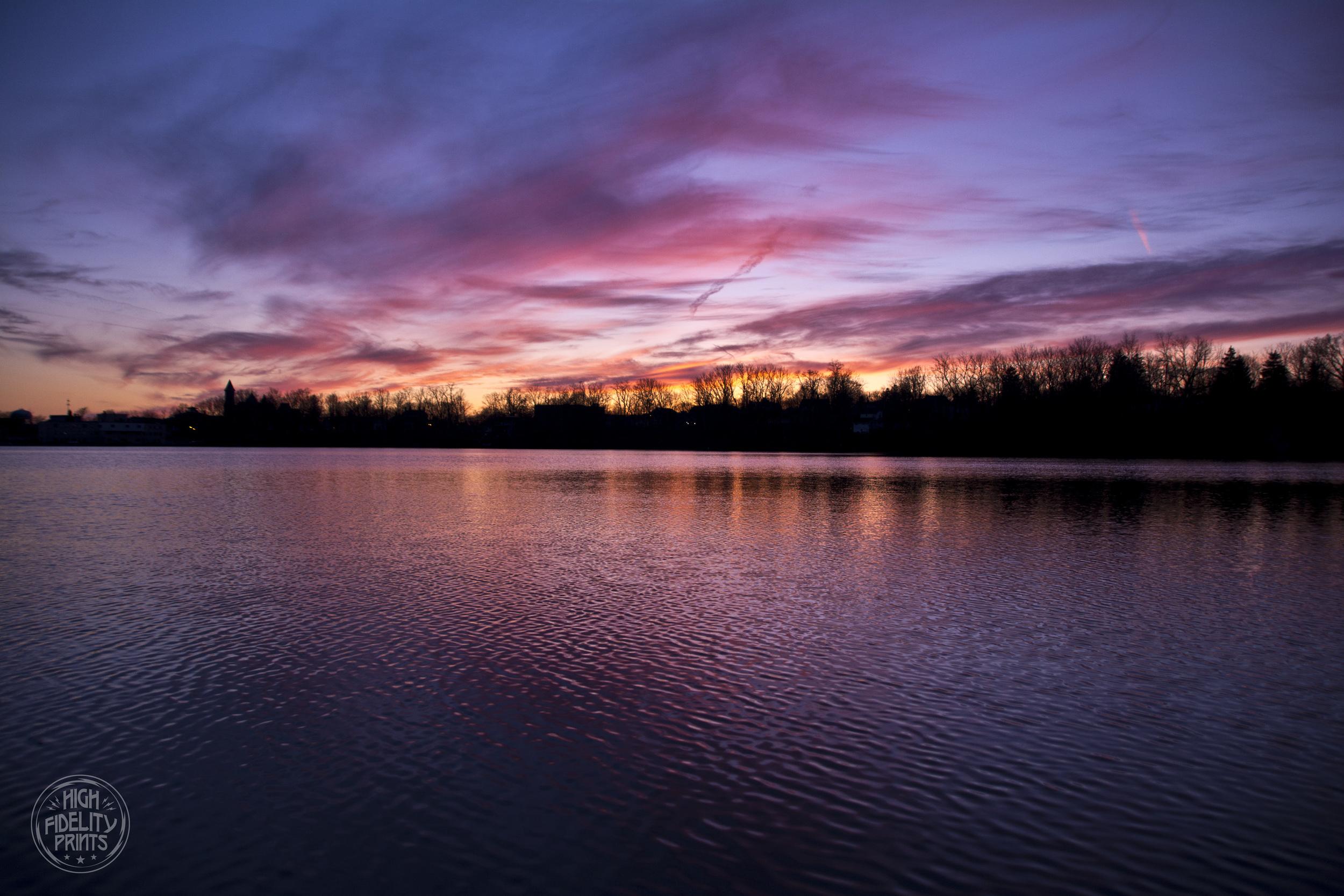 Sunset over Van Cleef Lake