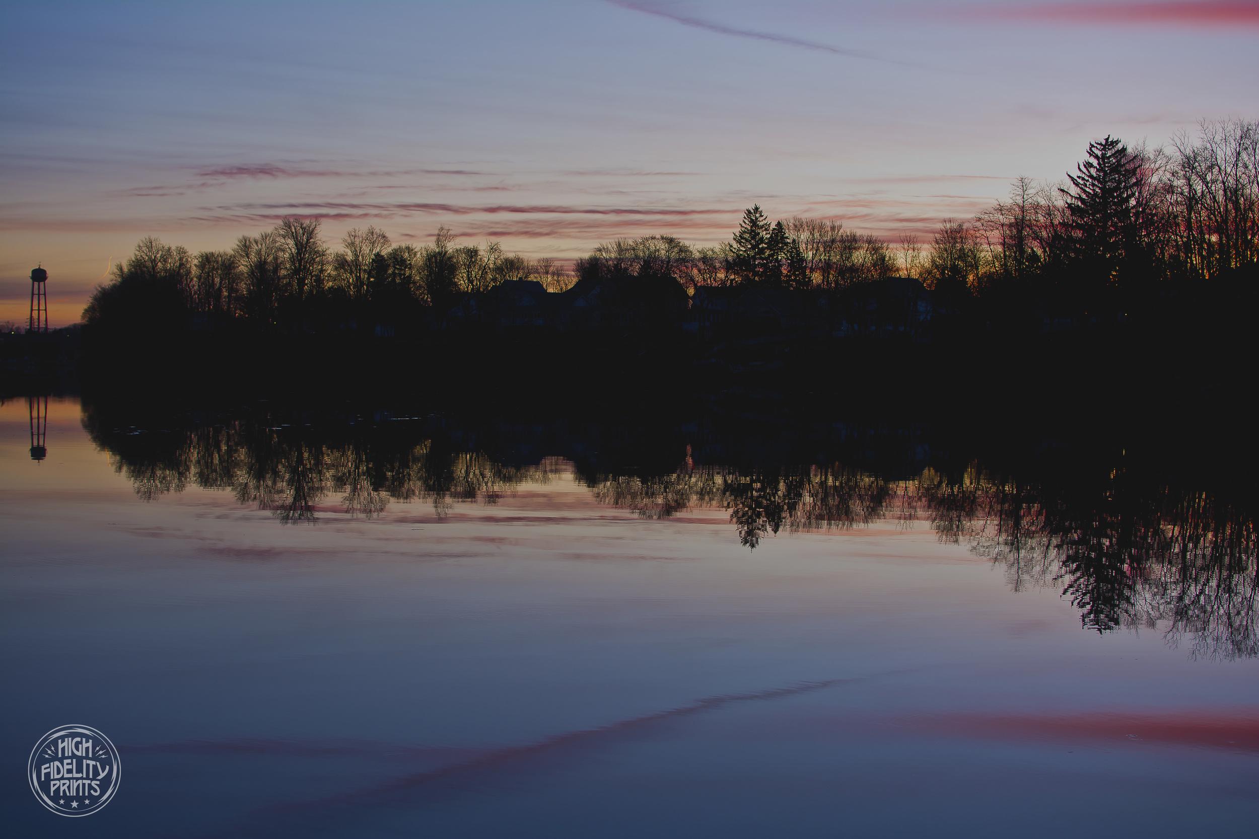 Sunrise over Van Cleef Lake