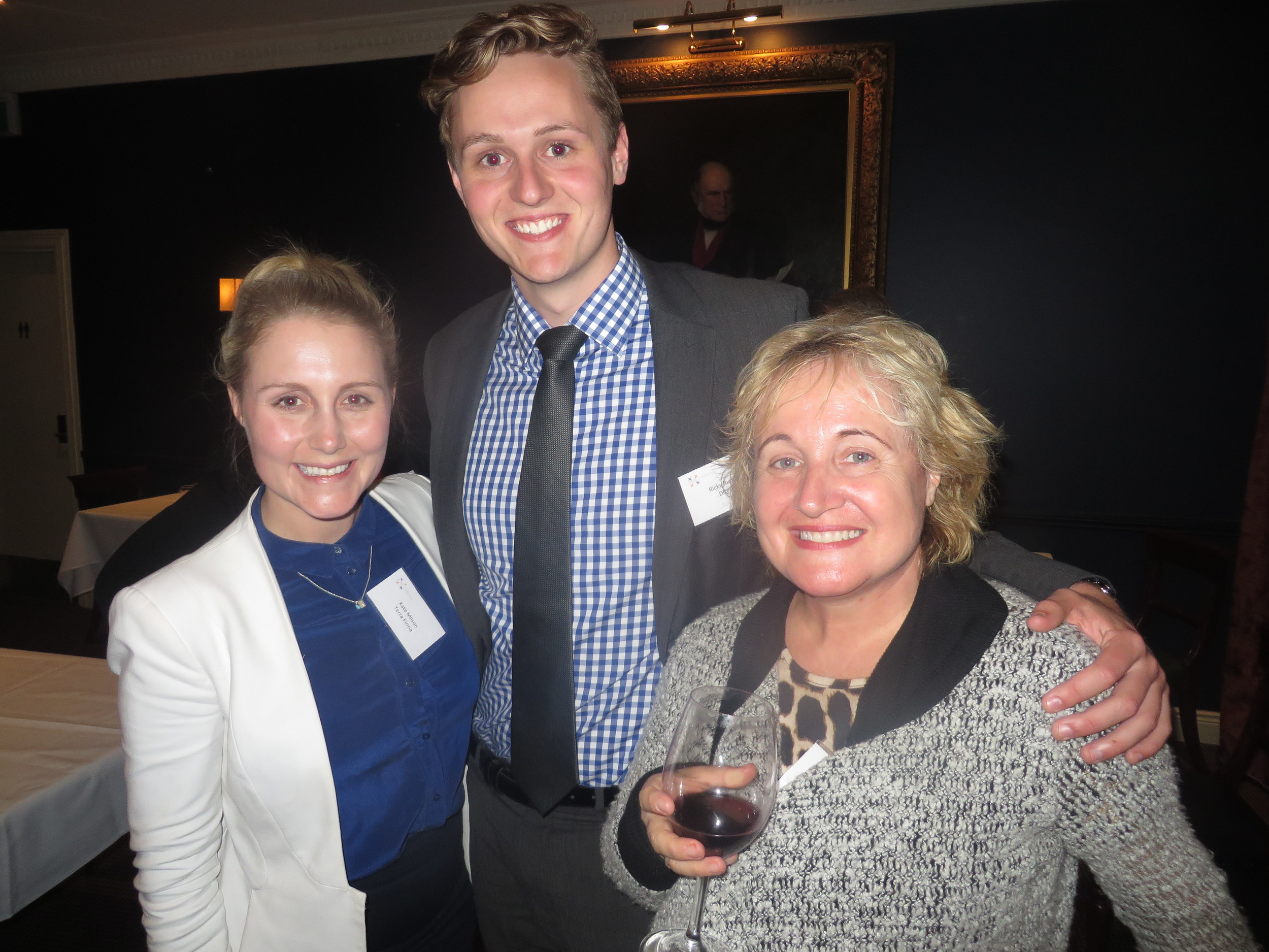 Kate Milson from Terra Firma with Make a Difference Director Ricky Rudduck and Lyndal Foldvary from Spruson & Ferguson
