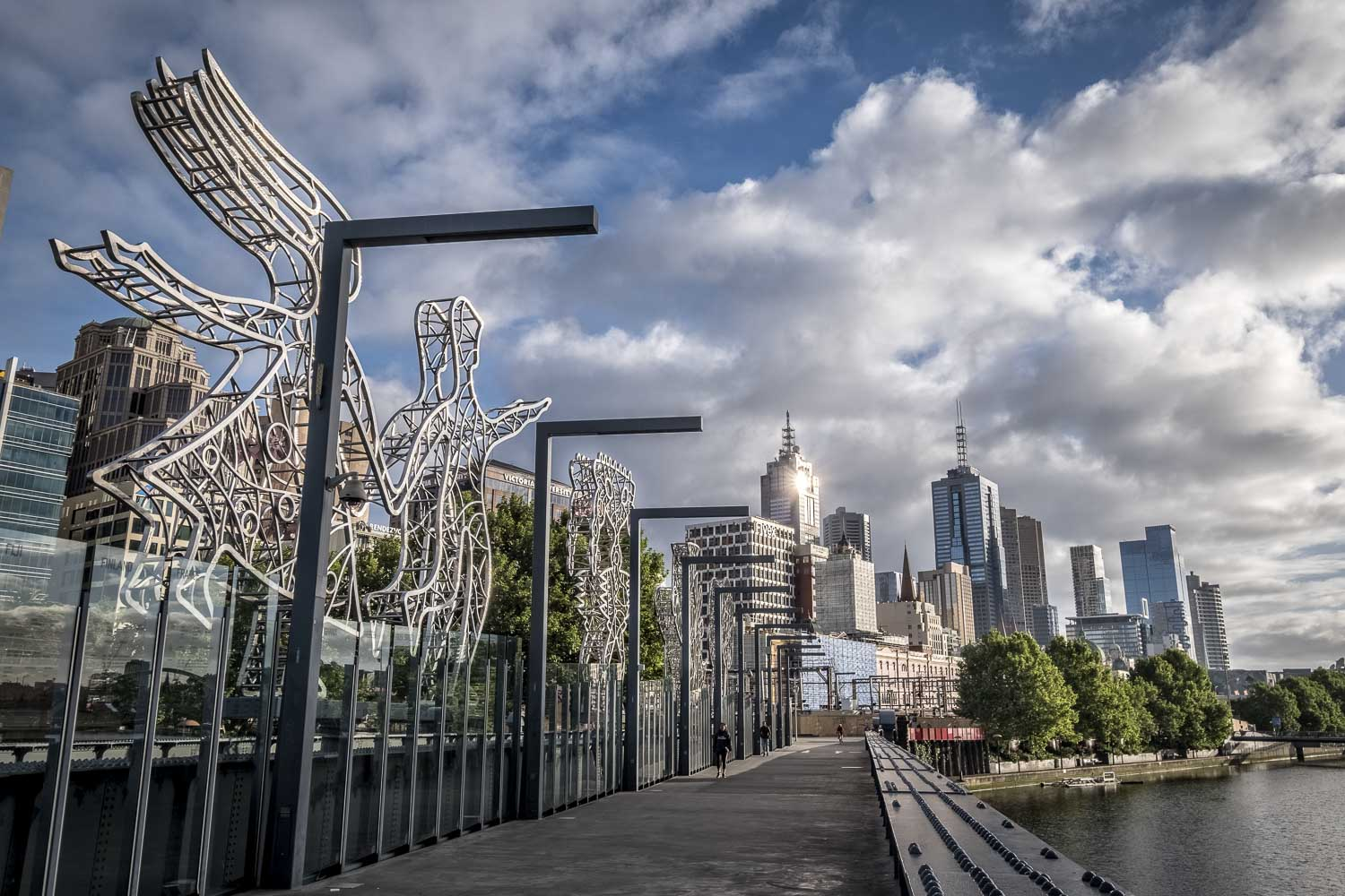 Sandridge bridge art, Melbourne