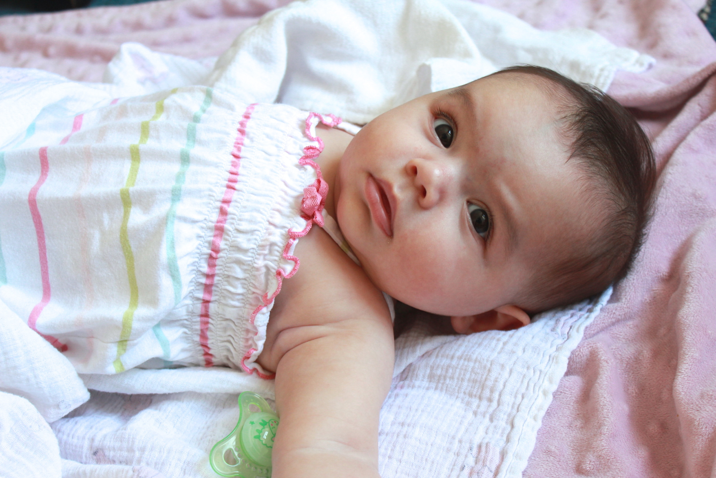 (This is the cutest little niece there ever could be. Four months already, and beautiful as ever, just like her mama .)