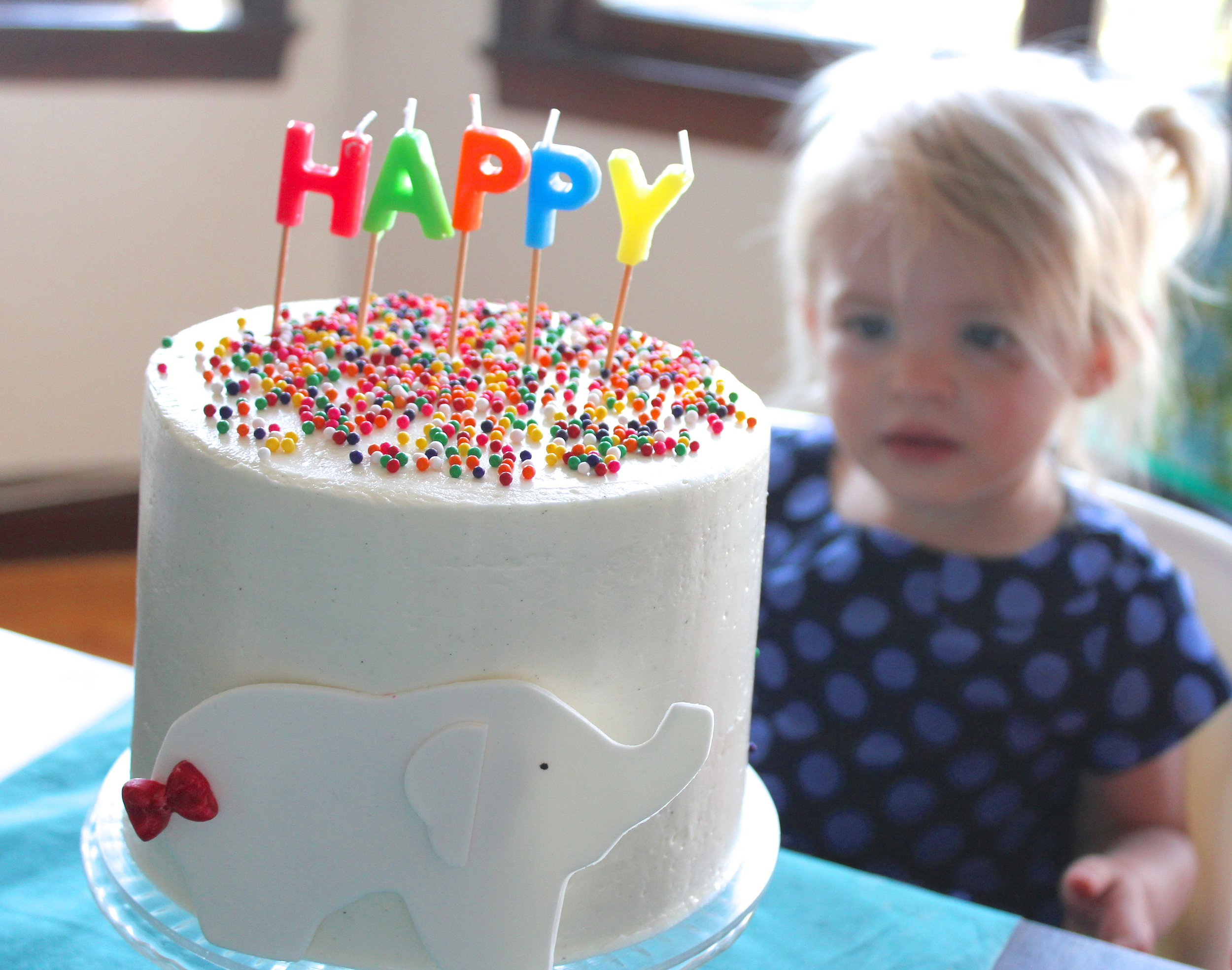 (The Happy Birthday song was a bit unnerving for both of my girls at their 2nd birthday). ;)