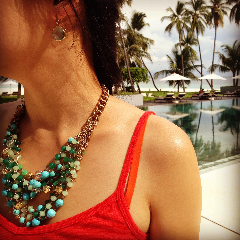 Maldives  necklace in Maldives!
