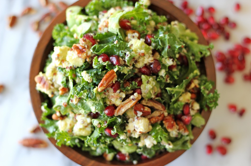 This is the  kale salad  I mentioned above. I mean, if a salad looks like that, how can it not be good??
