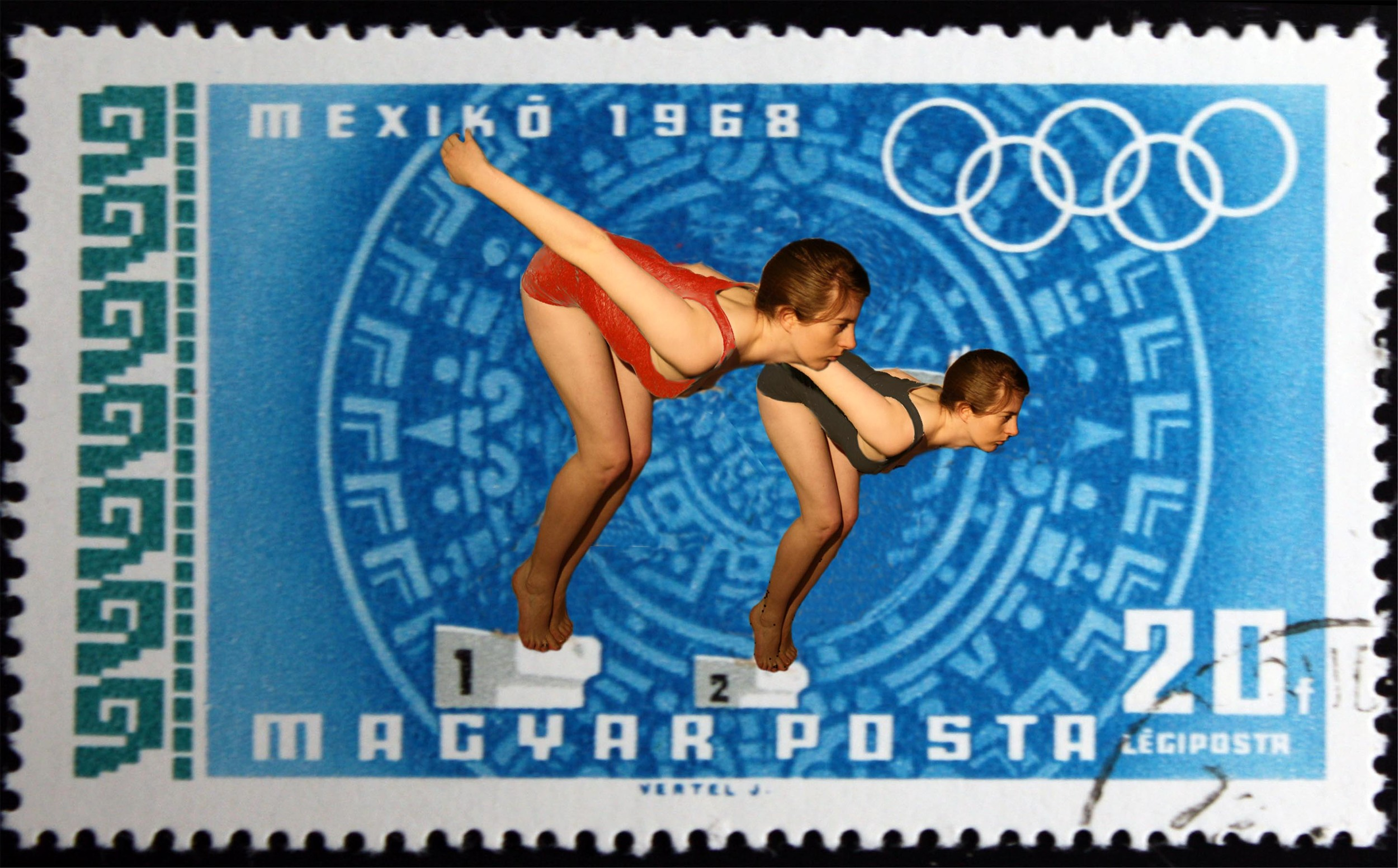 Stamp Collection (Olympics - Swimming)